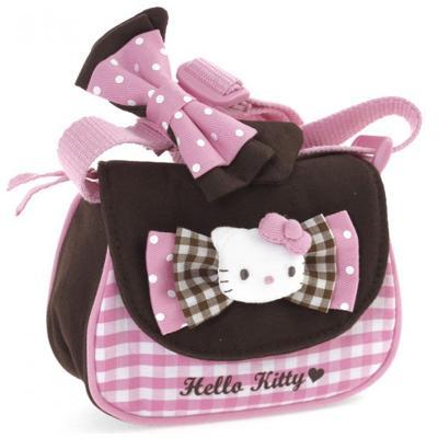 Tracolla con patta Pink Brown Hello Kitty
