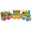 Treno multicolor in legno 15 pezzi