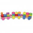 Treno multicolor in legno 26 pezzi