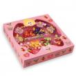 """Perline in legno """"Collane"""" scatola rosa"""