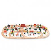 Trenino in legno 100 pezzi