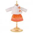 Vestito giacchina beige e gonna arancio Corolle cm. 36-38