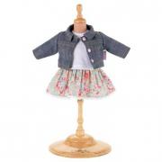 Vestito giacca in jeans e gonna a fiori Corolle cm. 36-38